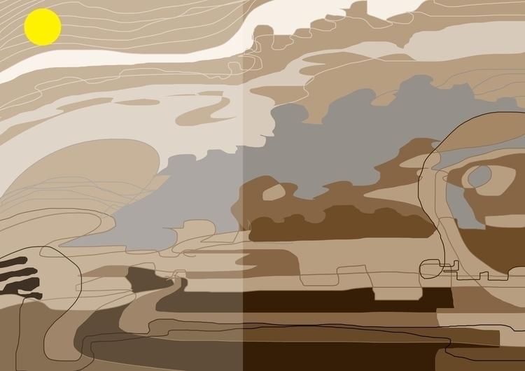 tranquil - painting, digitalart - sunnyefemena | ello
