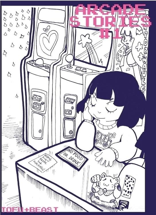 Cover comic zine, Arcade Storie - tofuplusbeast | ello