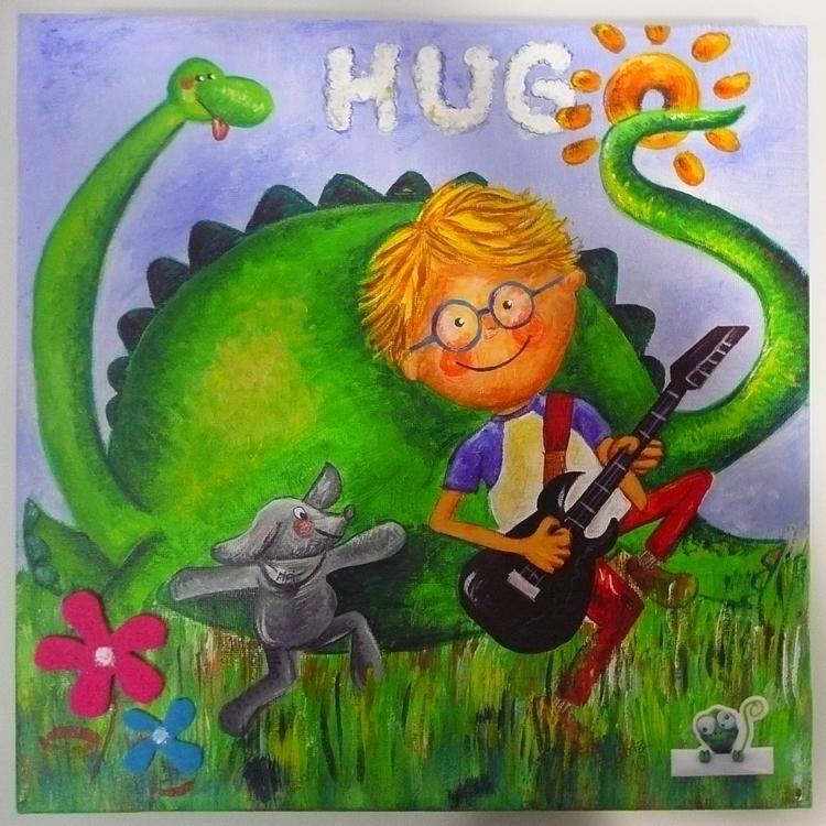 Hugo loves dinos - illustration - yucustomizedart | ello
