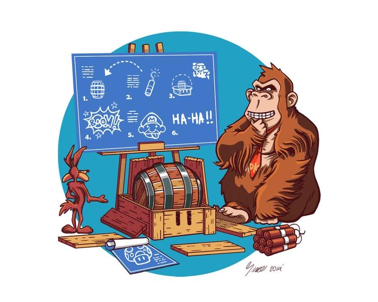 illustration, games, mario, dk - bruno-1160 | ello