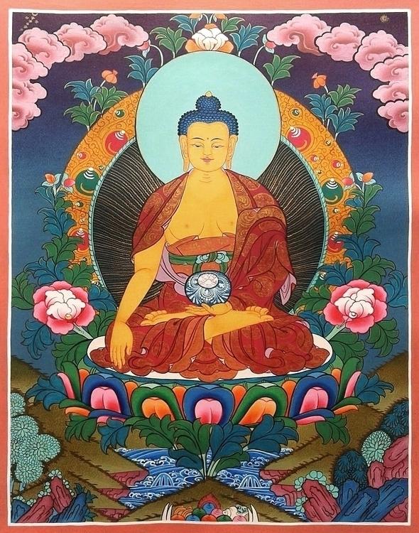 Thangka Painting Lord Buddha ea - thangka_mandala | ello