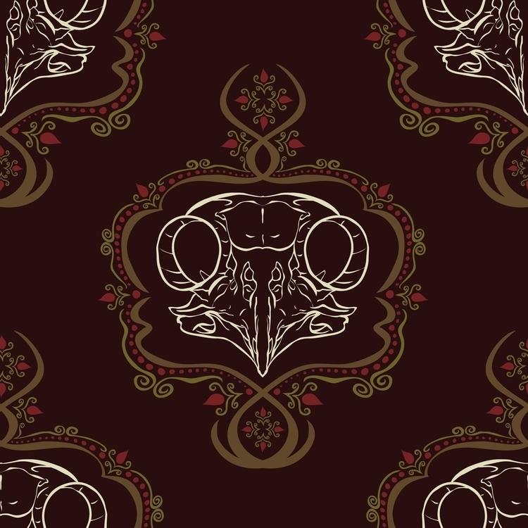 Boreal Owl Skull - illustration - kayla_catherine | ello