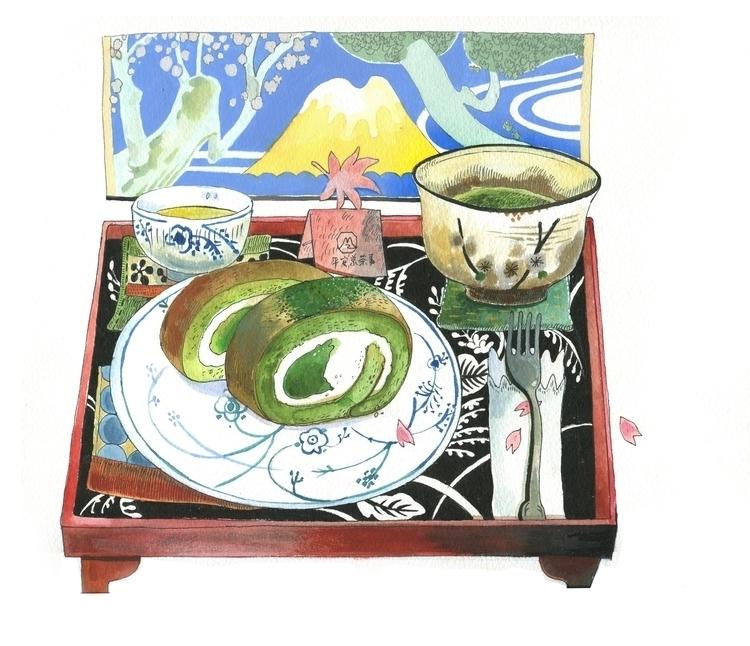 Matcha illustration - painting, drawing - yanyongchen | ello