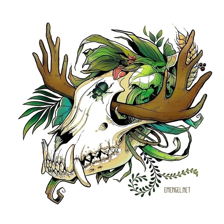 feral, skull - emengel | ello