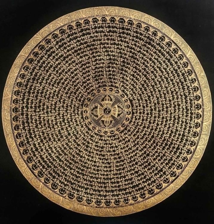Yin Yang Mantra Mandala - TibetanMandala - thangka_mandala | ello