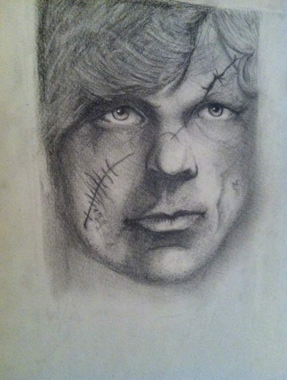 Tyrion Lannister - drawing, portrait - katiecorley14 | ello