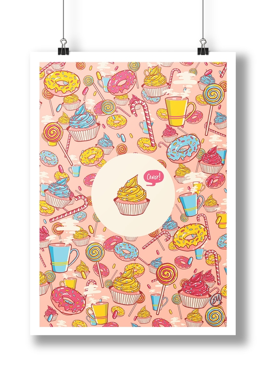 Doodles - Candy, illustration, emanuele - emanuelem | ello