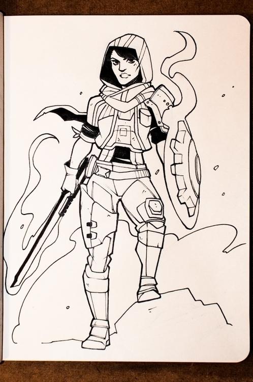Day 12 - Athena, Gladiator - inktober - charlestan   ello