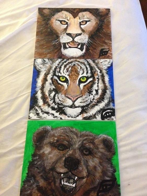 Lions, Tigers Bears - Endangere - khesspowell | ello