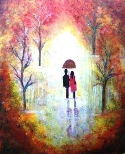 Autumn Romance Romantic paintin - artbymanjiri | ello