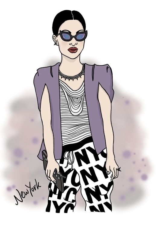 York Style - fashion, fashionillustration - deesignillustrations | ello