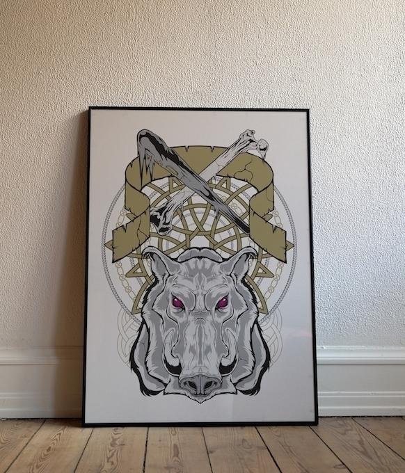 Poster series Nordic theme. Boa - deathisabadger | ello