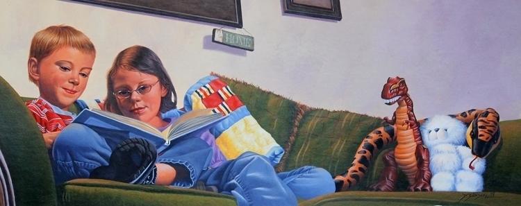 Reading Spread Book - illustration - dallynzundel   ello