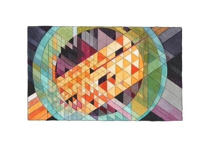 metropolis 5x7 acrylic paper - illustration - johnnyterrific | ello