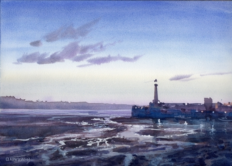 Margate evening - painting, watercolour - kevinclarkson-1133 | ello