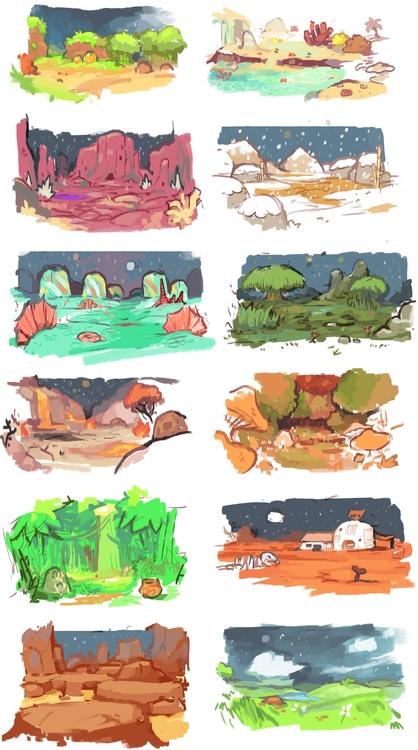 Environment concept - gameart - pixelboy-1587 | ello