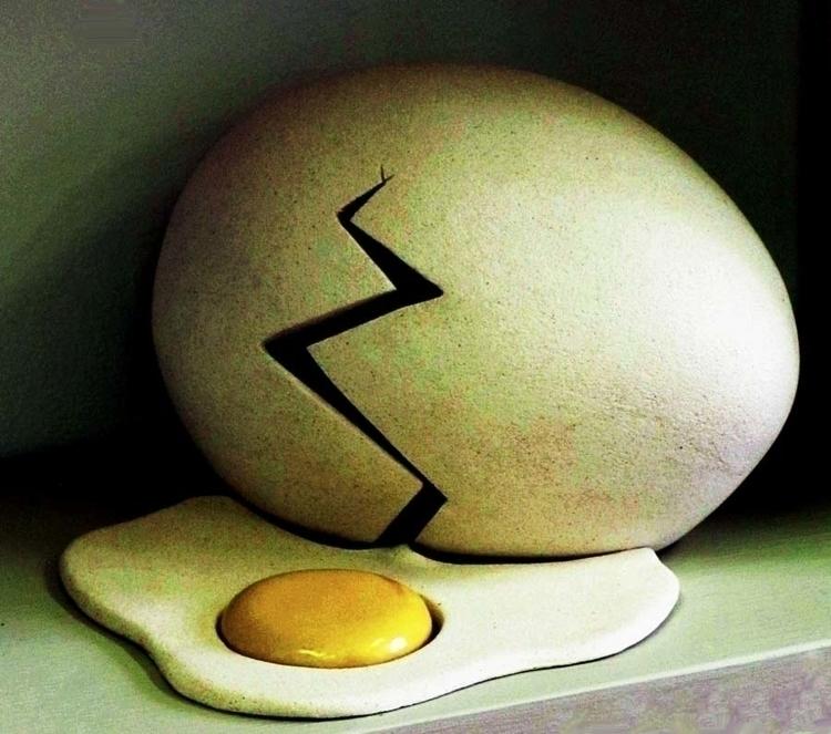 Ceramic Egg - Cone 5 Stoneware  - becdetwiler | ello