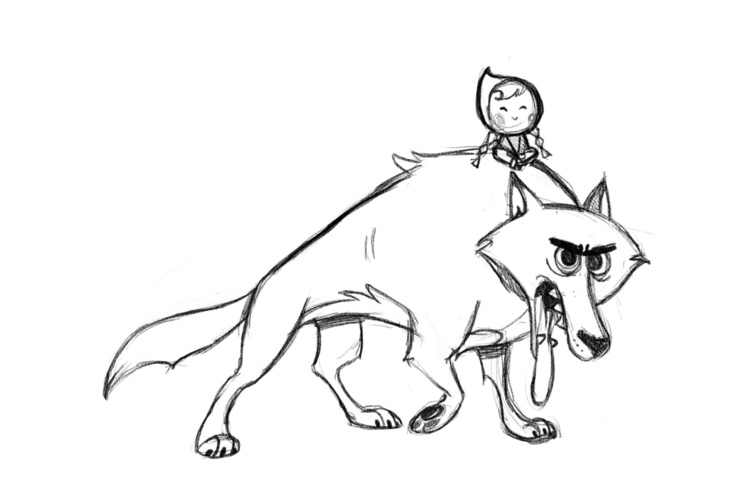 carriehankins, wolf, littleredridinghood - carriehankins | ello