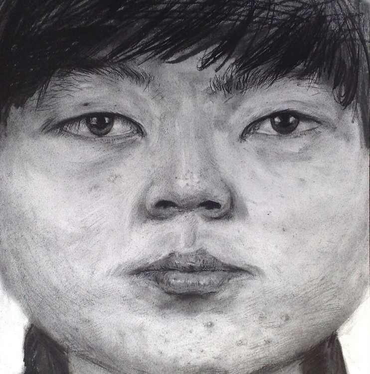 portrait - drawing, selfportrait - yuanzihan | ello
