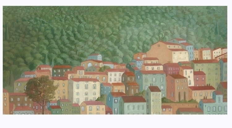 painter dreams, village - fabianabocchi | ello