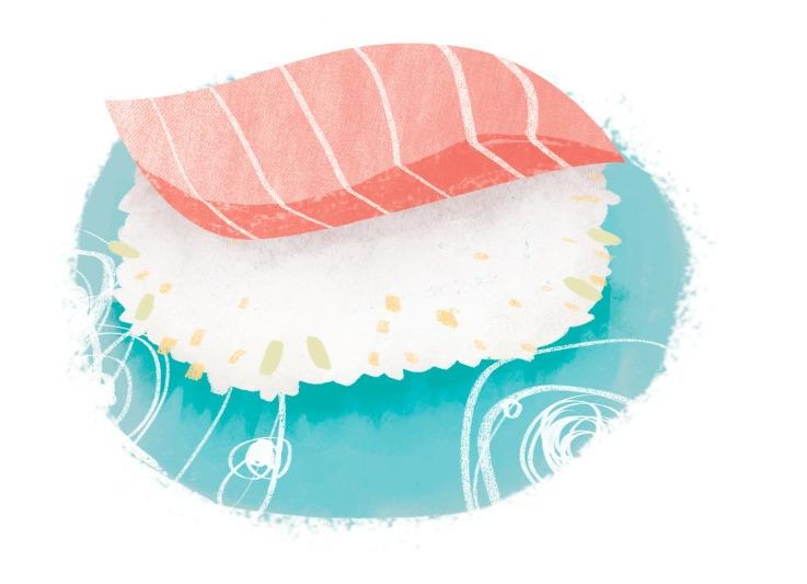 sushi - foodillustration, illustration - lynhuiong   ello