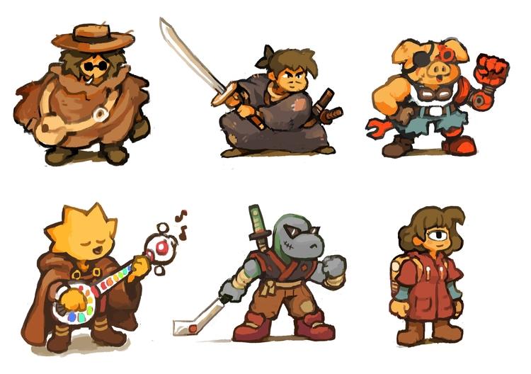 Characters design - gameart, characterdesign - pixelboy-1587 | ello