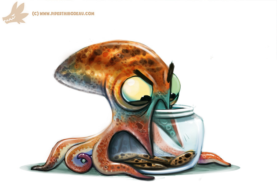 Daily Paint Octopus Cookie Jar  - piperthibodeau | ello
