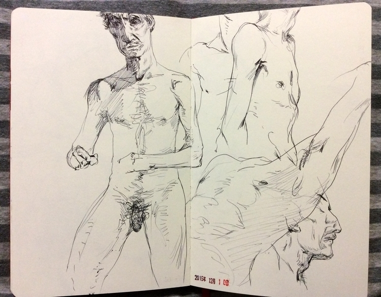 sketch, drawing, lifedrawing - yuanzihan | ello