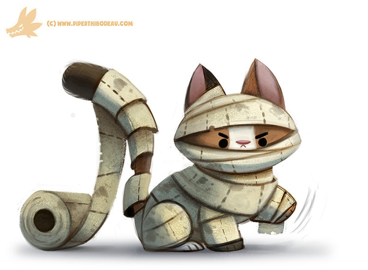 Daily Paint Mummy Cat - 1064. - piperthibodeau | ello
