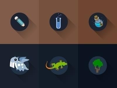 vector, flatdesign, potion, babydragon - laudruiz | ello