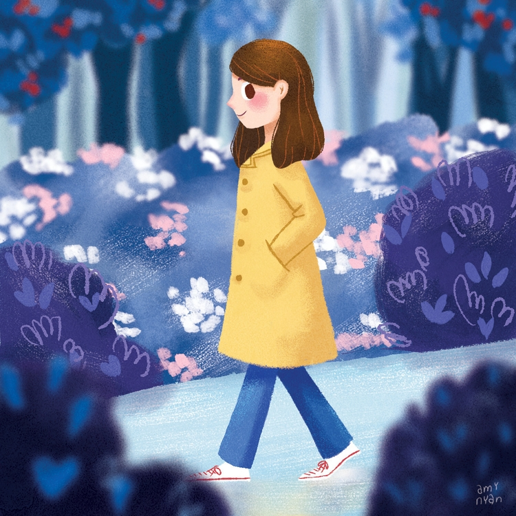 Raincoat - illustration, painting - amynyan | ello