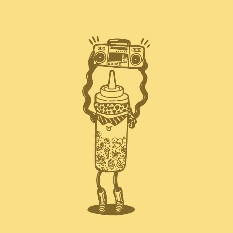 10 - mustard, inktober2015 - nickvcarro | ello