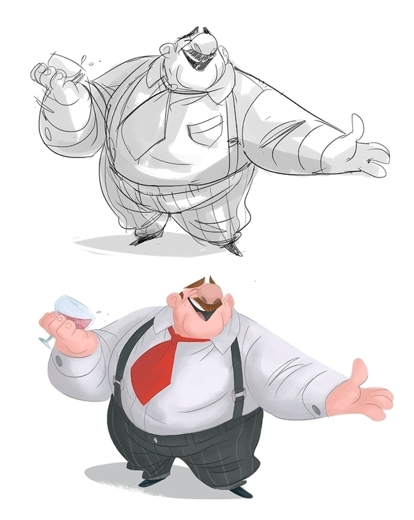 characterdesign, cartoon, drawing - drawandestroy | ello