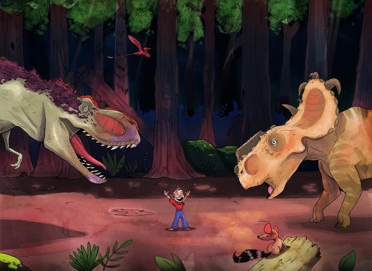 Dinosaur fight! draw dinosaurs - sqschwartz | ello