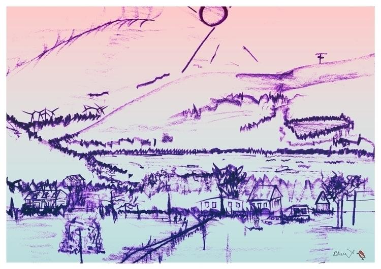 Canandaigua Lake - drawing - danielspeterv | ello