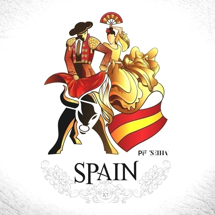 Spain - drawing, illustration, design - tseihadesign | ello