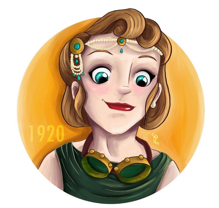Flossie - illustration, painting - nicacolalite   ello