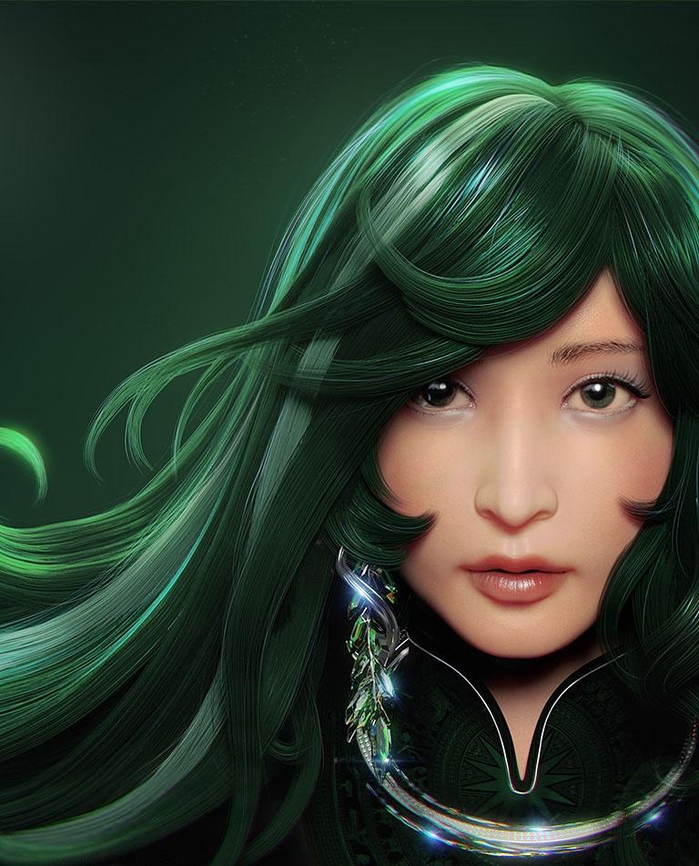 Emerald Flow - Character create - thundercloudstudio   ello