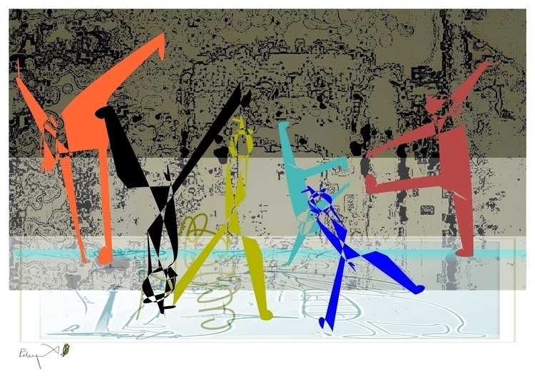 Dancing City - illustration - danielspeterv | ello