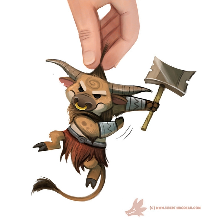 Daily Paint Mini-taur - 1094. - piperthibodeau | ello