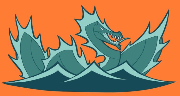 150111 WaterDragon - design, dragon - madmeeper   ello