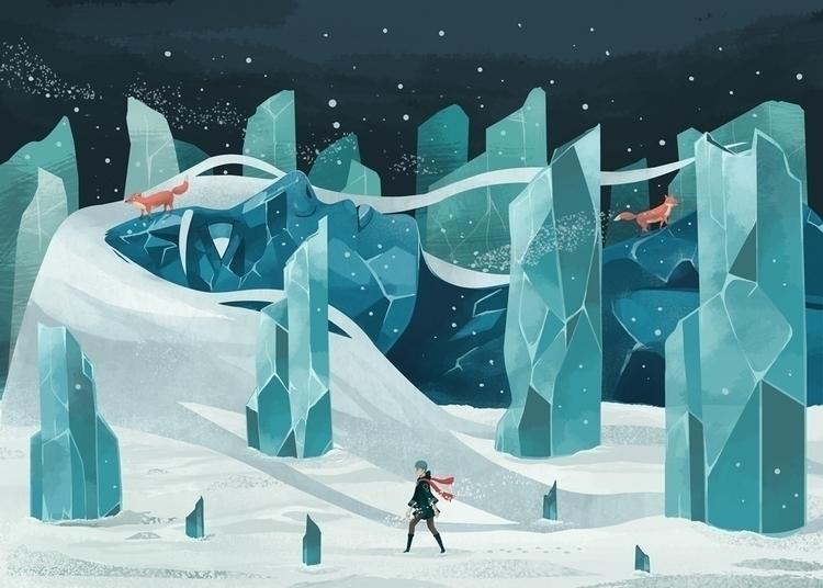 wanderer, ice, forest, snow, giant - renonogaj | ello