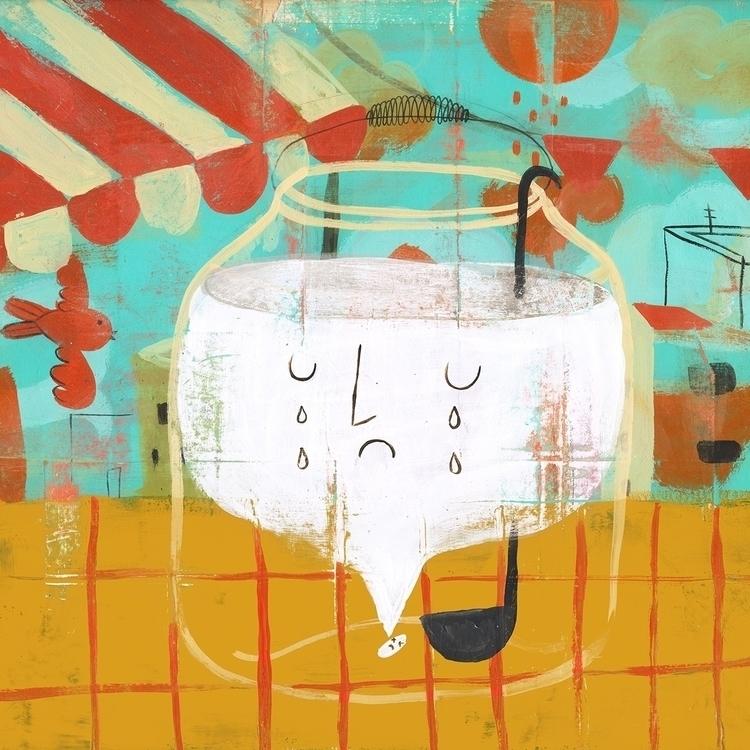 El agua de horchata - illustration - fucoleon | ello