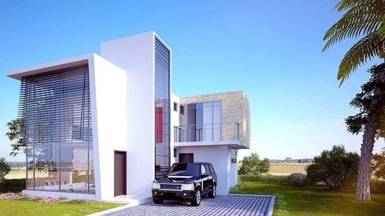 Casa Tipo 02 - architecture, architecturalvisualisation - cristianebratt | ello