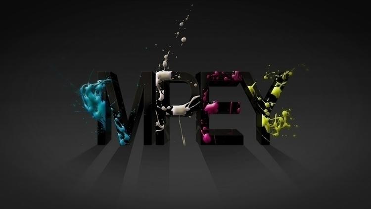 3d splatter - font, type, splash - mpey | ello