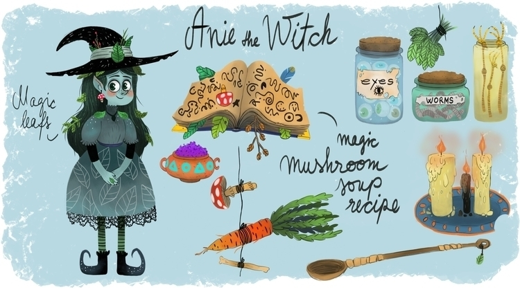 Anie Witch! Personal stuff - illustration - hedif | ello