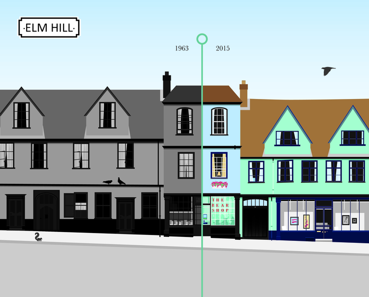 Elm Hill Norwich. Digital illus - leahwatson | ello