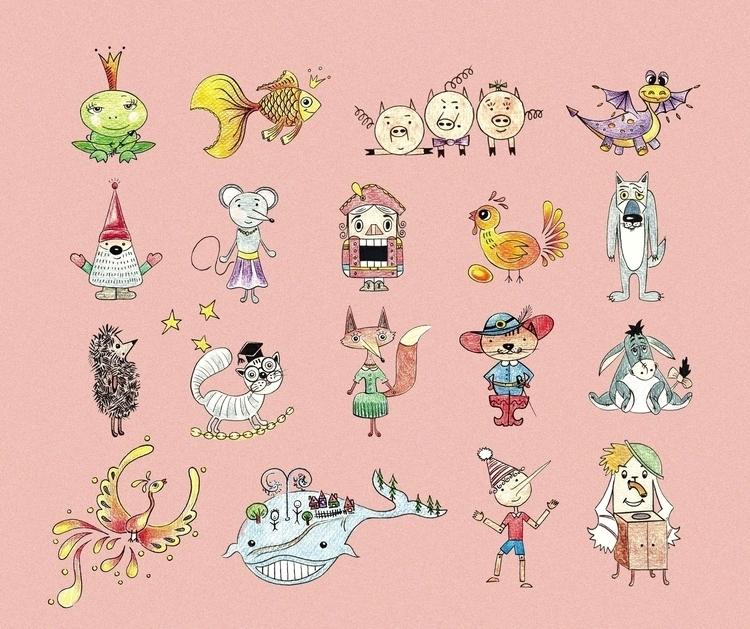 fairy tale characters books - illustration - usova_julia | ello