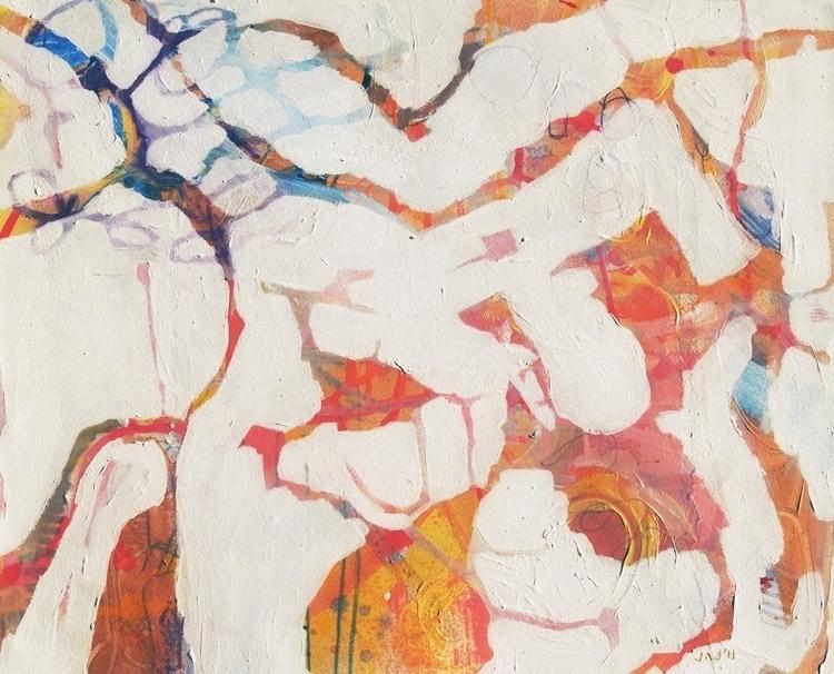Aerial Yellow, Orange - abstract - janickejohansen | ello