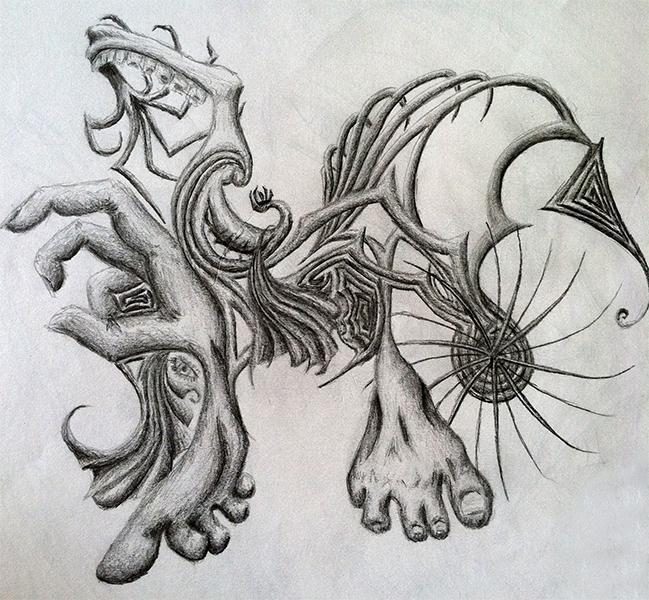 Abstract Sketch Idea- pencil pa - mallorycogut   ello